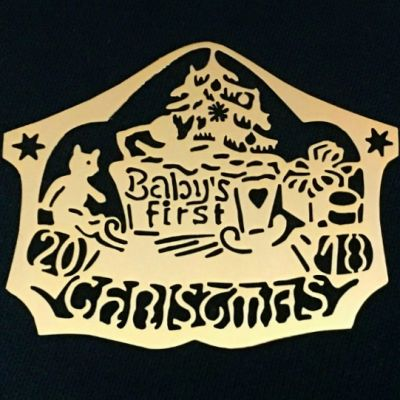 2018 Baby's First Christmas Biedermann Ornament