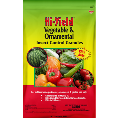 Hi-Yield Vegetable & Ornamental Insect Control Granules (4 lbs.)
