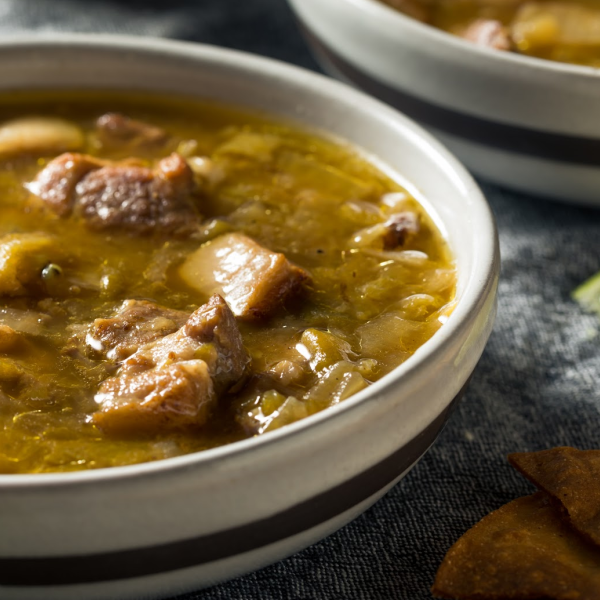 It's time for a bowl of Marty's green chile verde.